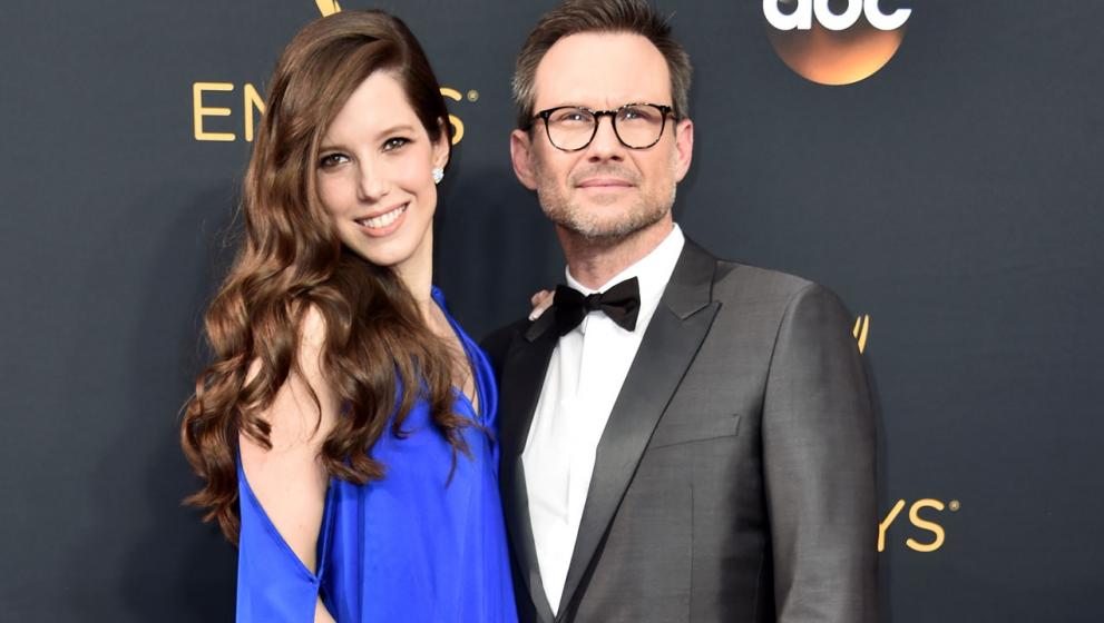 Christian Slater Dan Brittany Lopez Menyambut Anak Pertama Mereka
